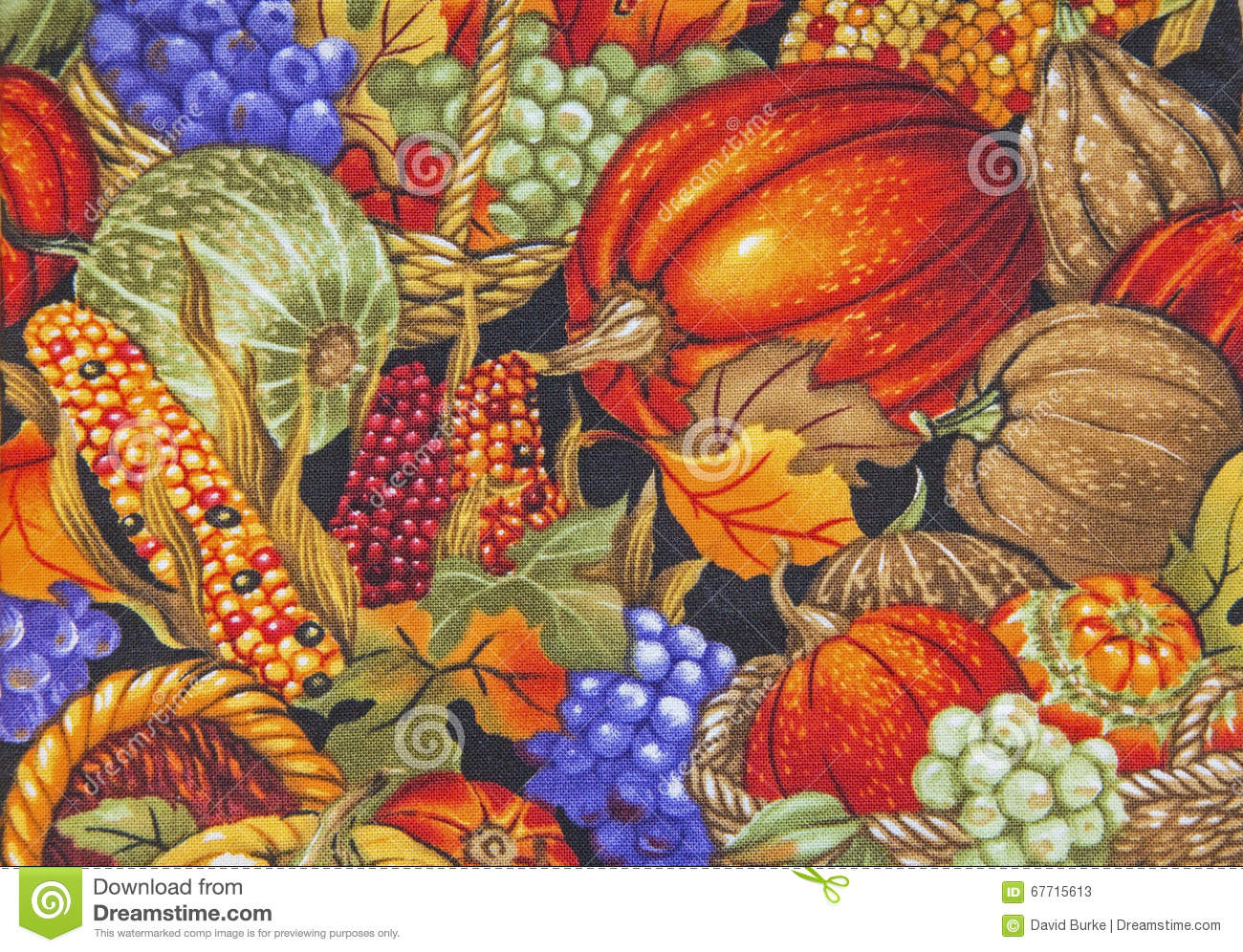 Pumpkins And Fall Leaves Wallpaper Autumn Harvest Scene Pumpkins Corn Cobs Background Stock