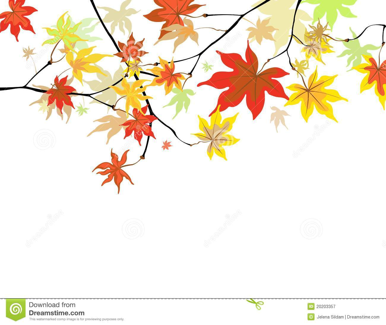 Maple Leaf Wallpaper For Fall Season Autumn Leaves Stock Vector Image Of Tree Ornament