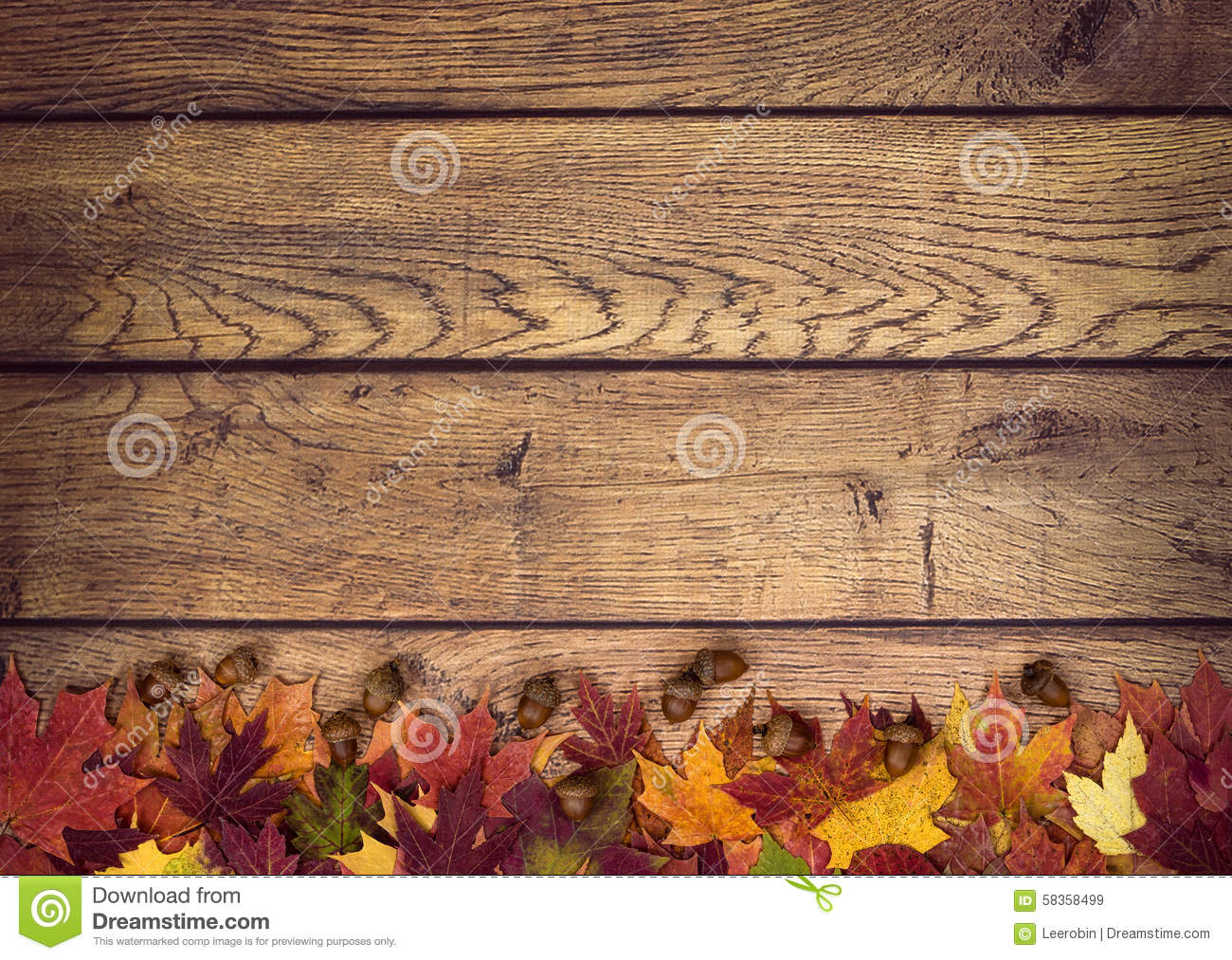 Hd Wallpaper Texture Fall Harvest Autumn Leaves And Acorns On Rustic Wooden Background Stock