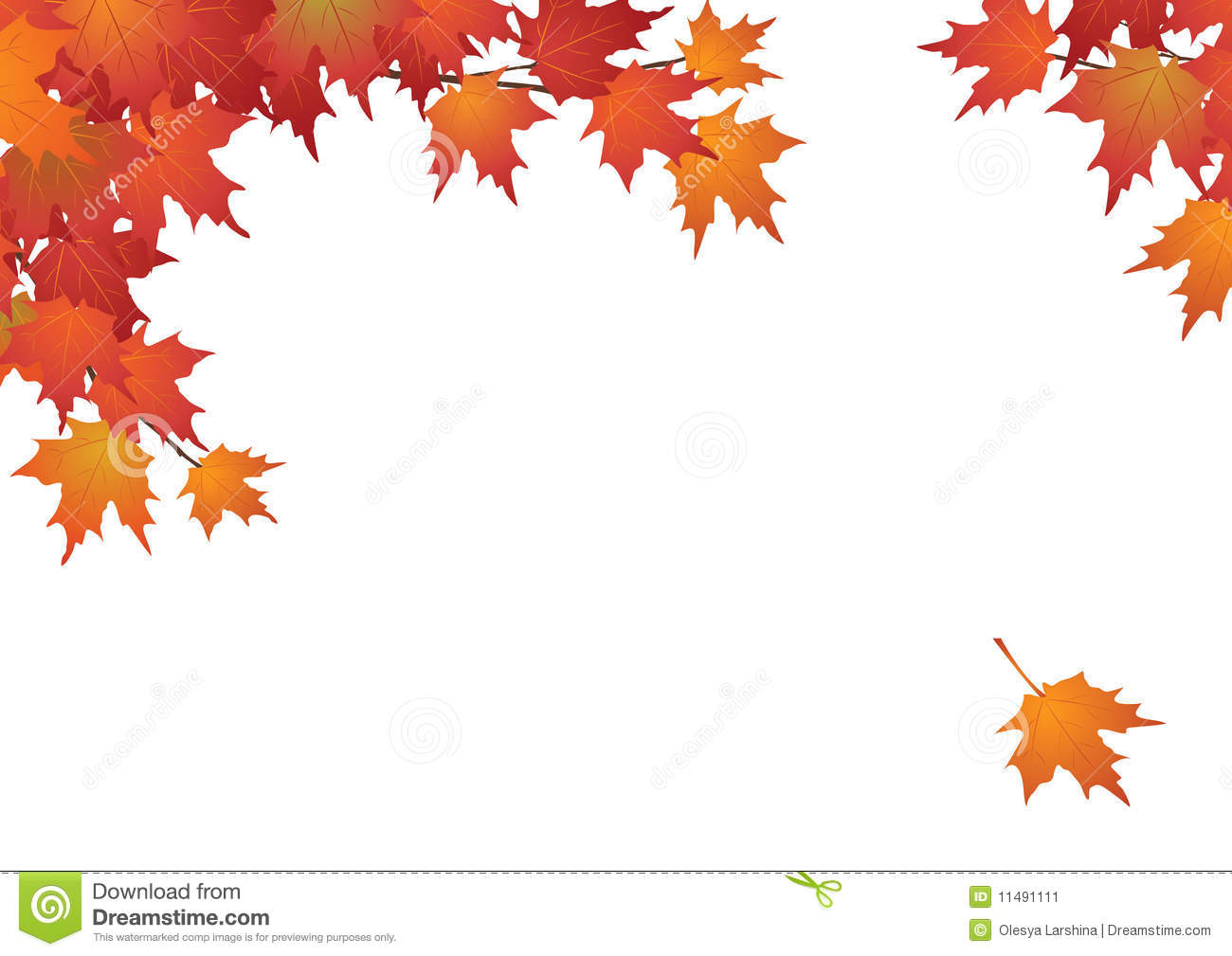 Fall Leaves Wallpaper Powerpoint Background Autumn Leaves Background Frame Stock Vector Illustration