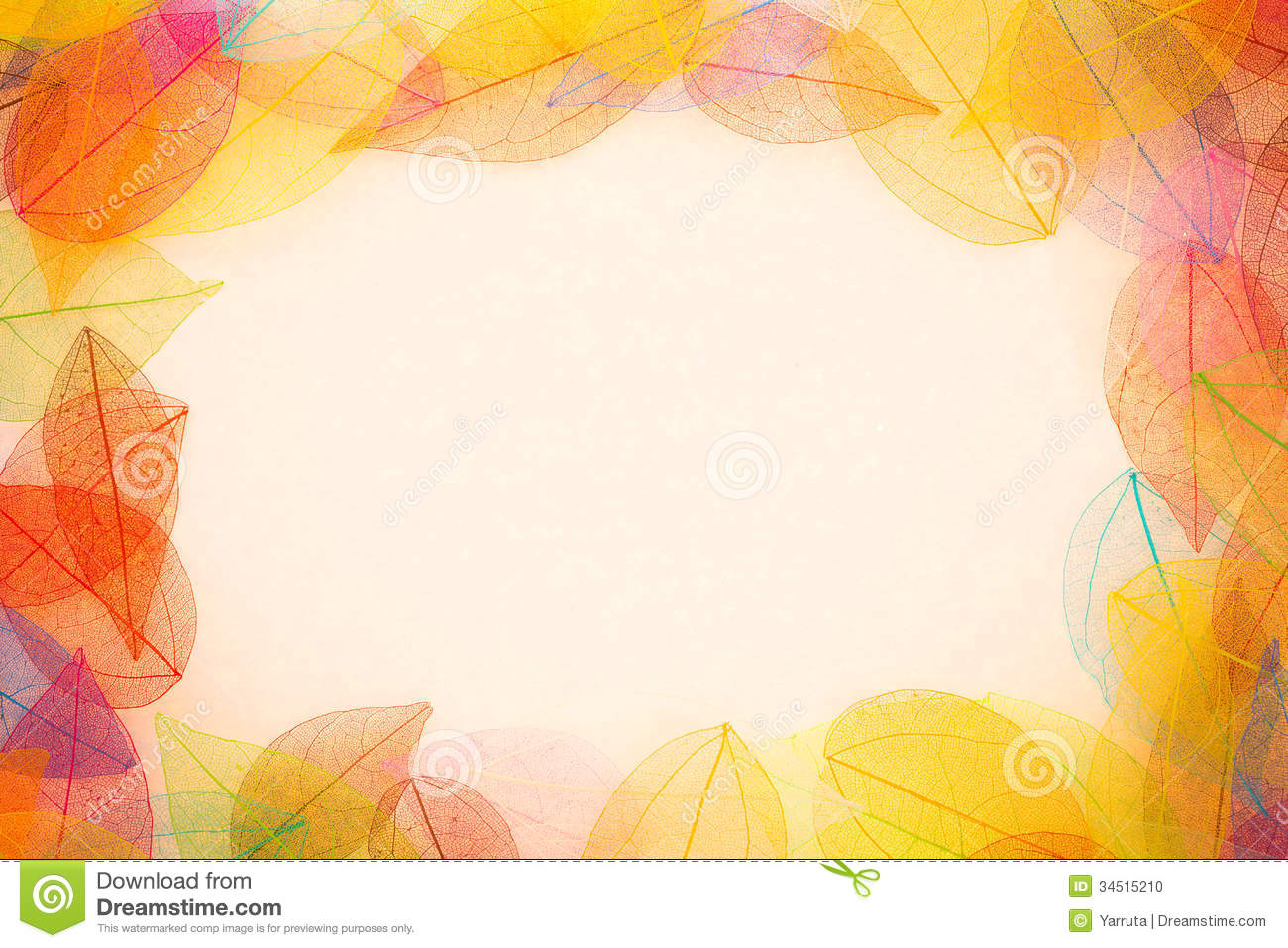 Falling Leaves Wallpaper Free Download Autumn Leaves Frame Stock Photo Image 34515210