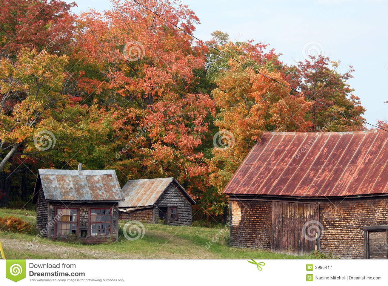 Fall Farm Wallpaper Autumn In Maine Countryside Stock Image Image 3996417