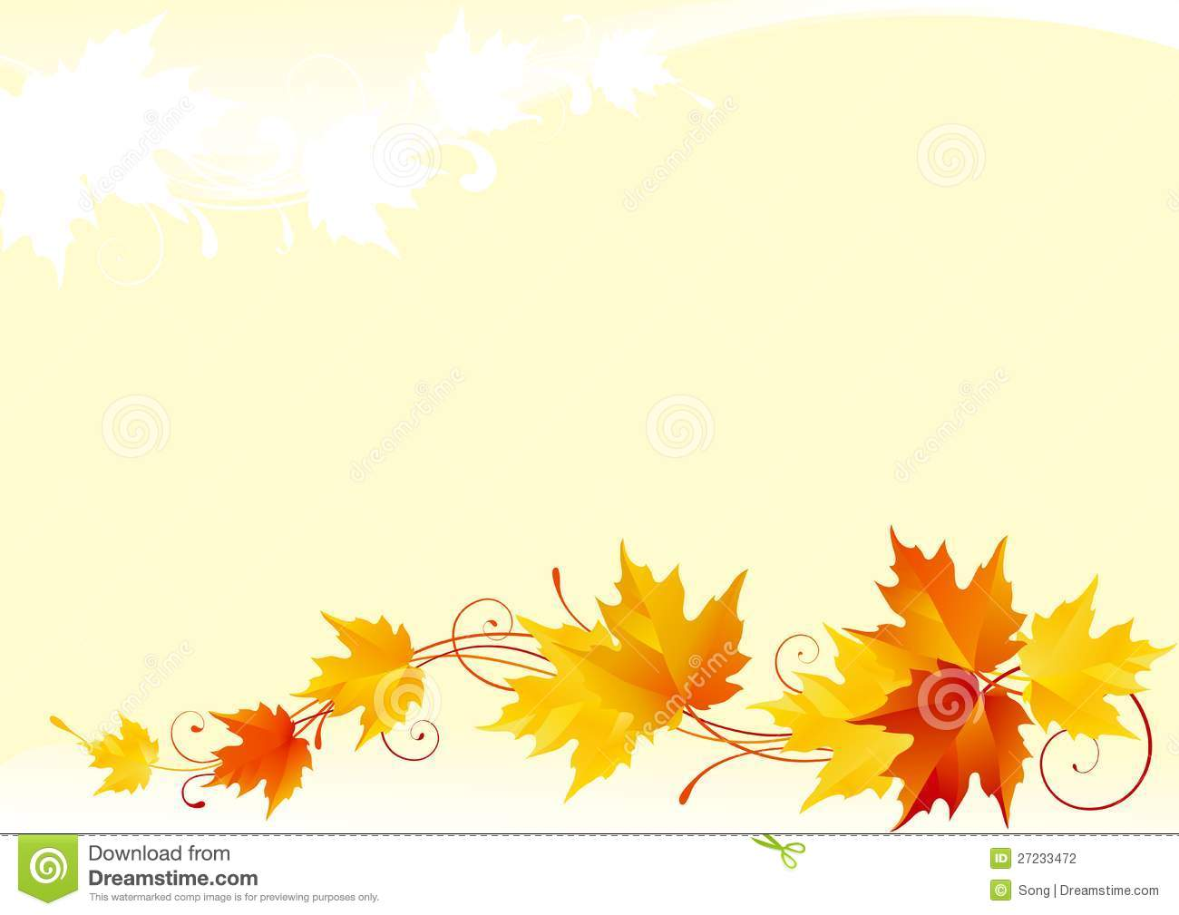 Fall And Thanksgiving Wallpaper Autumn Maple Background Stock Vector Image Of Fall