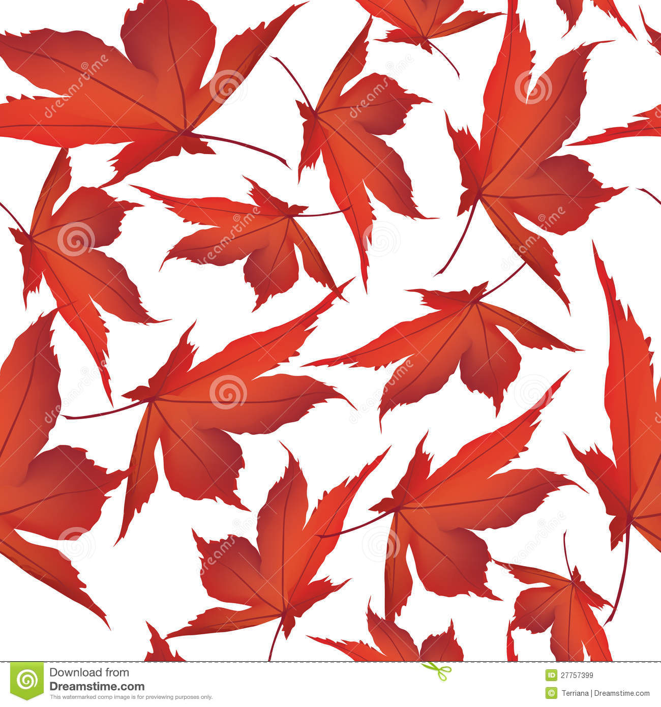 Falling Maple Leaves Wallpaper Autumn Maple Leaves Seamless Pattern Background Royalty