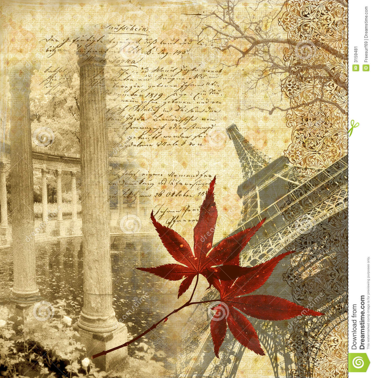 Paris In The Fall Wallpaper Autumn In Paris Stock Image Image 3159481