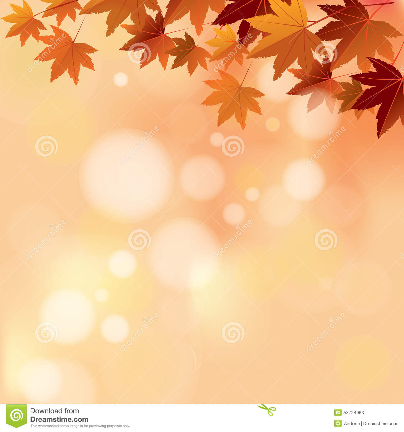 Fall Colored Background Wallpaper Autumn Pastel Color Bokeh Background Stock Vector Image