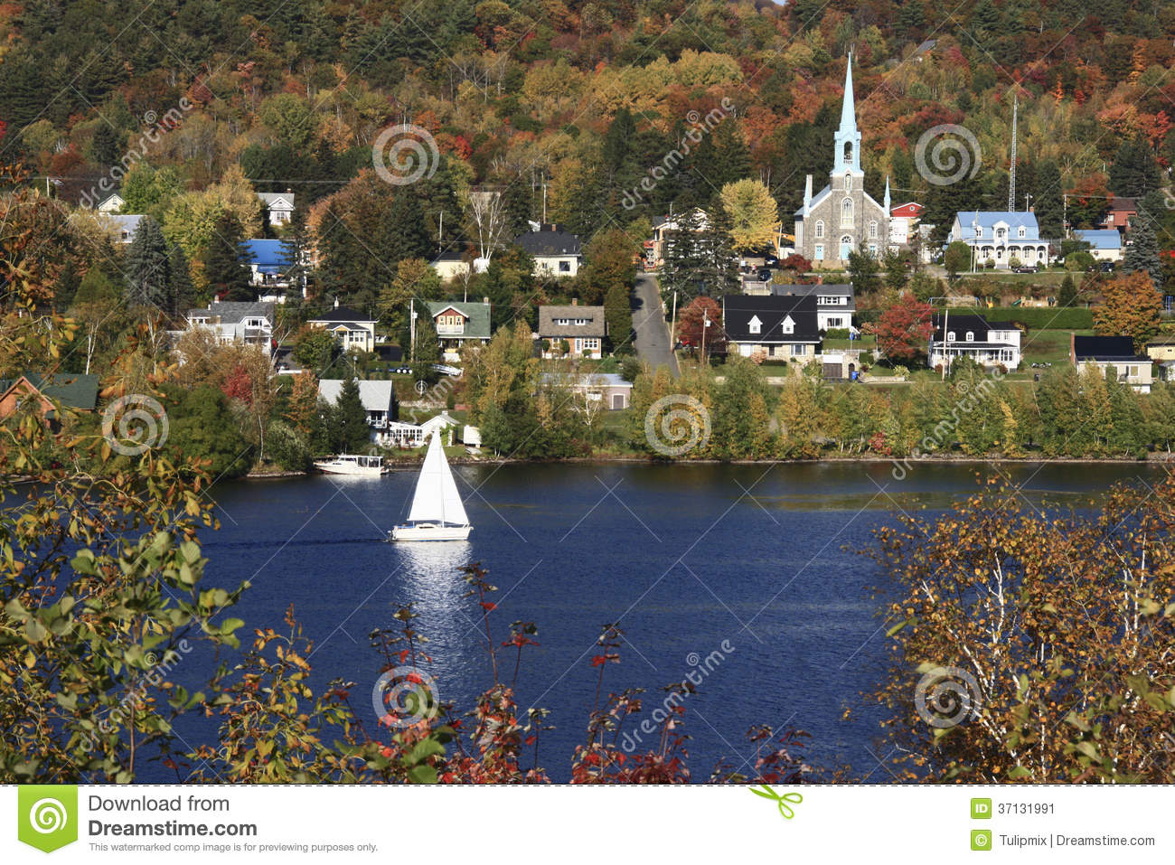 Maine Fall Wallpaper Autumn Scenery In Quebec Canada Stock Image Image 37131991