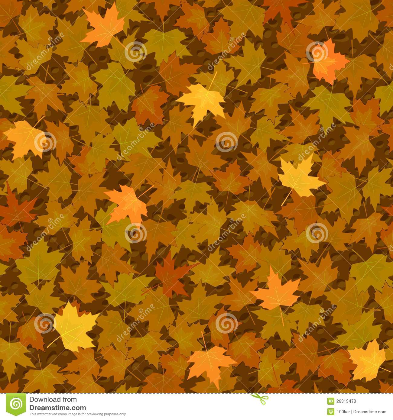 Fall Of The Leafe Wallpaper Autumn Yellow Maple Leaf Seamless Pattern Stock Photo