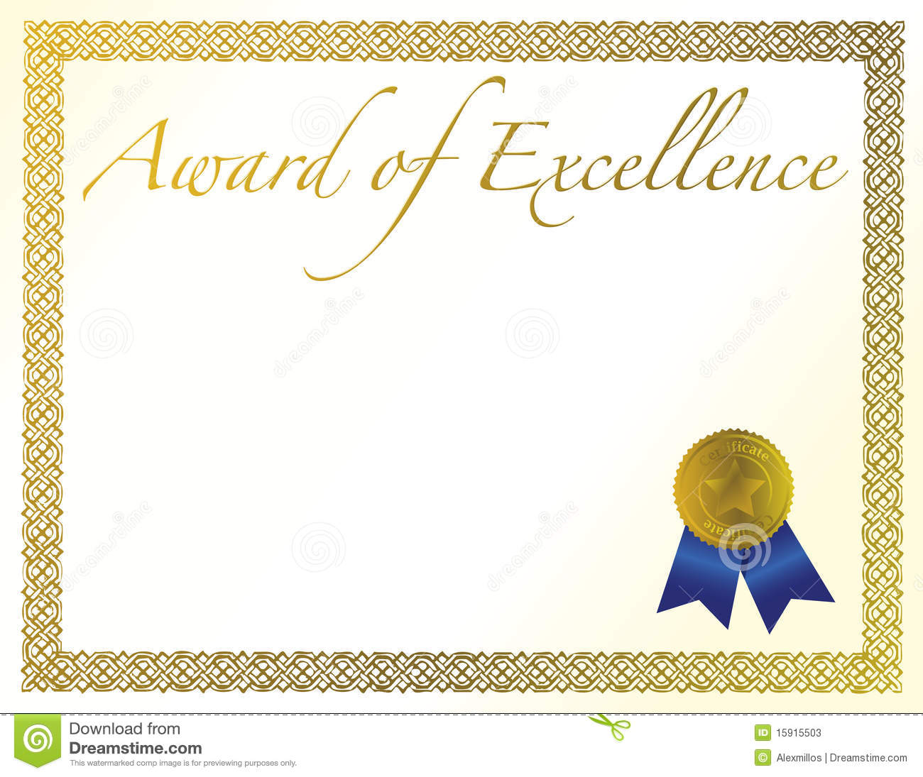 Award of excellence certificate template insrenterprises award of excellence certificate template xflitez Image collections