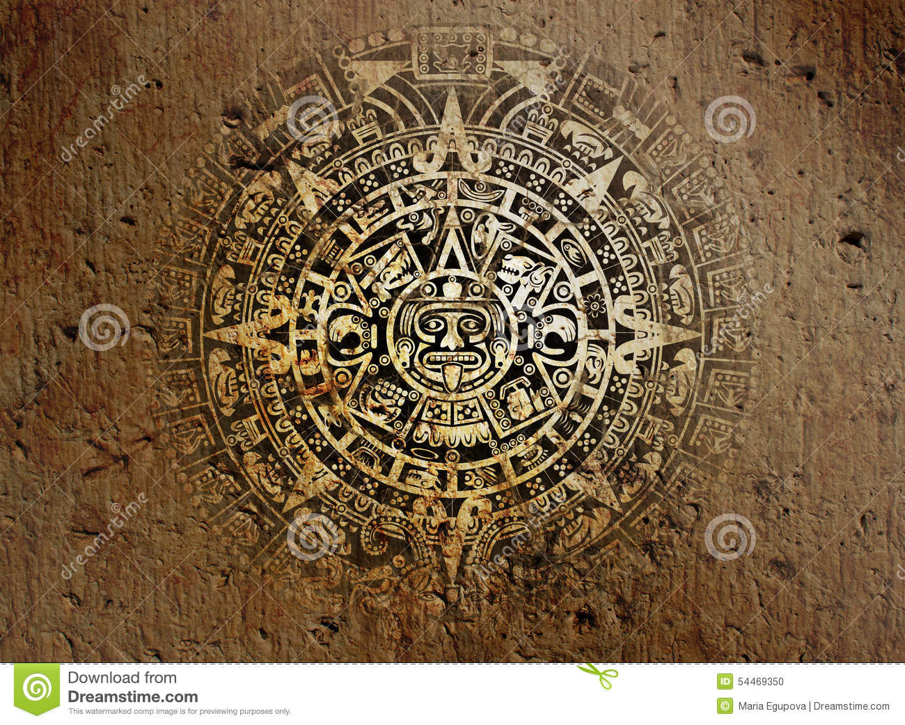 Indian Culture Wallpaper Hd Aztec Calendar On Old Stone Stock Photo Image 54469350