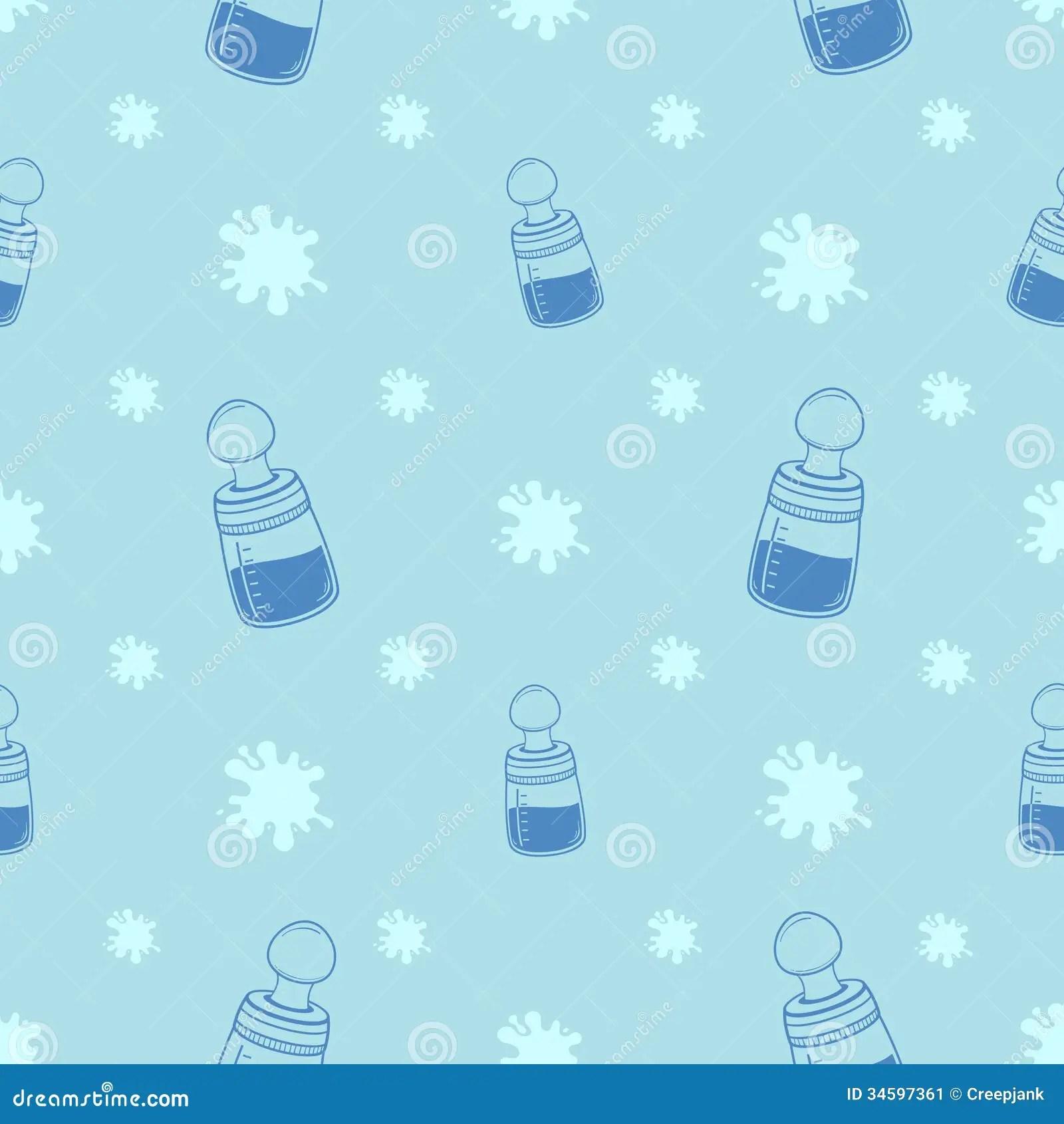 Newborn Baby Girl Wallpaper Baby Bottle Background Pattern Stock Image Image 34597361