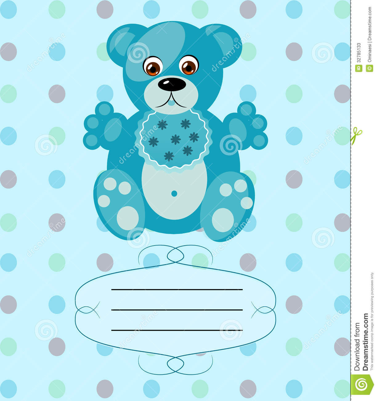 Newborn Baby Girl Wishes Wallpaper Baby Boy Greeting Card Vector Background Eps10 Stock