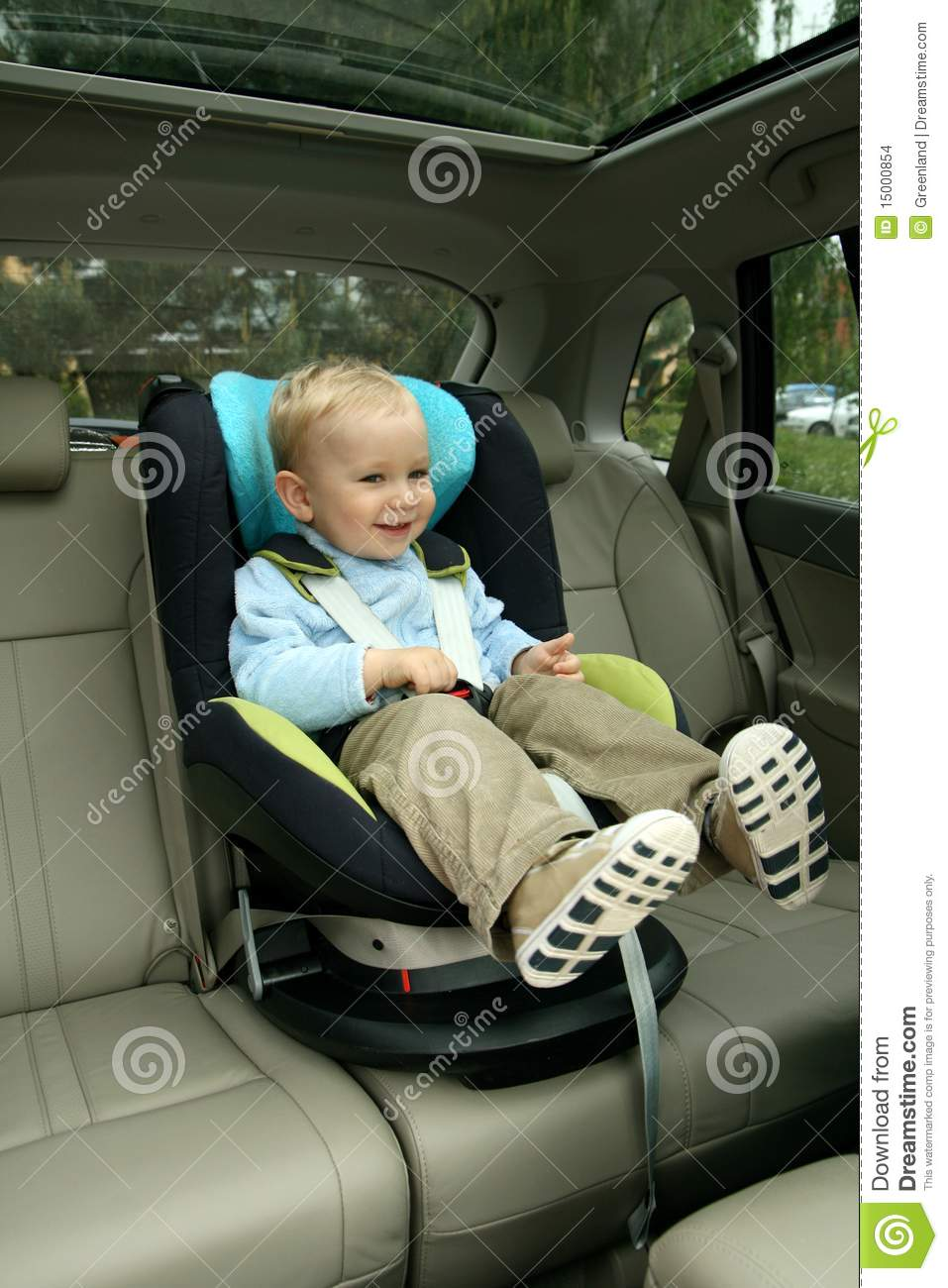 Baby Toddler Seat Baby In Car Seat Stock Photo Image Of Security Face