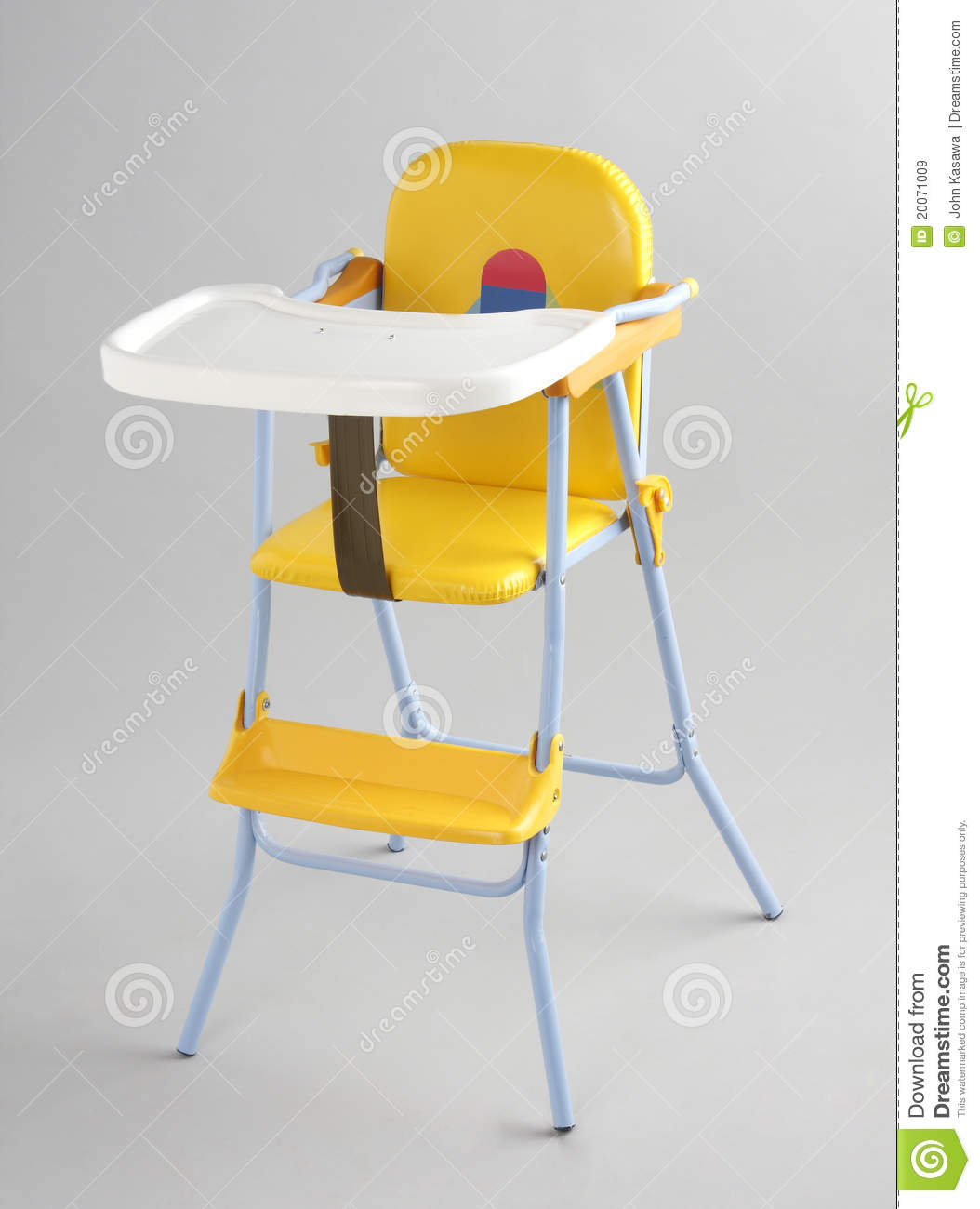Baby Eating Food Chair Isolated Royalty Free Stock Images