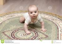 Baby Crawling On Carpet Royalty Free Stock Image - Image ...