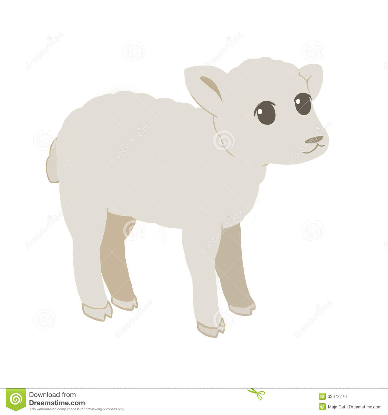 Baby Lamb Drawing Baby Lamb Royalty Free Stock Image Image 33672776