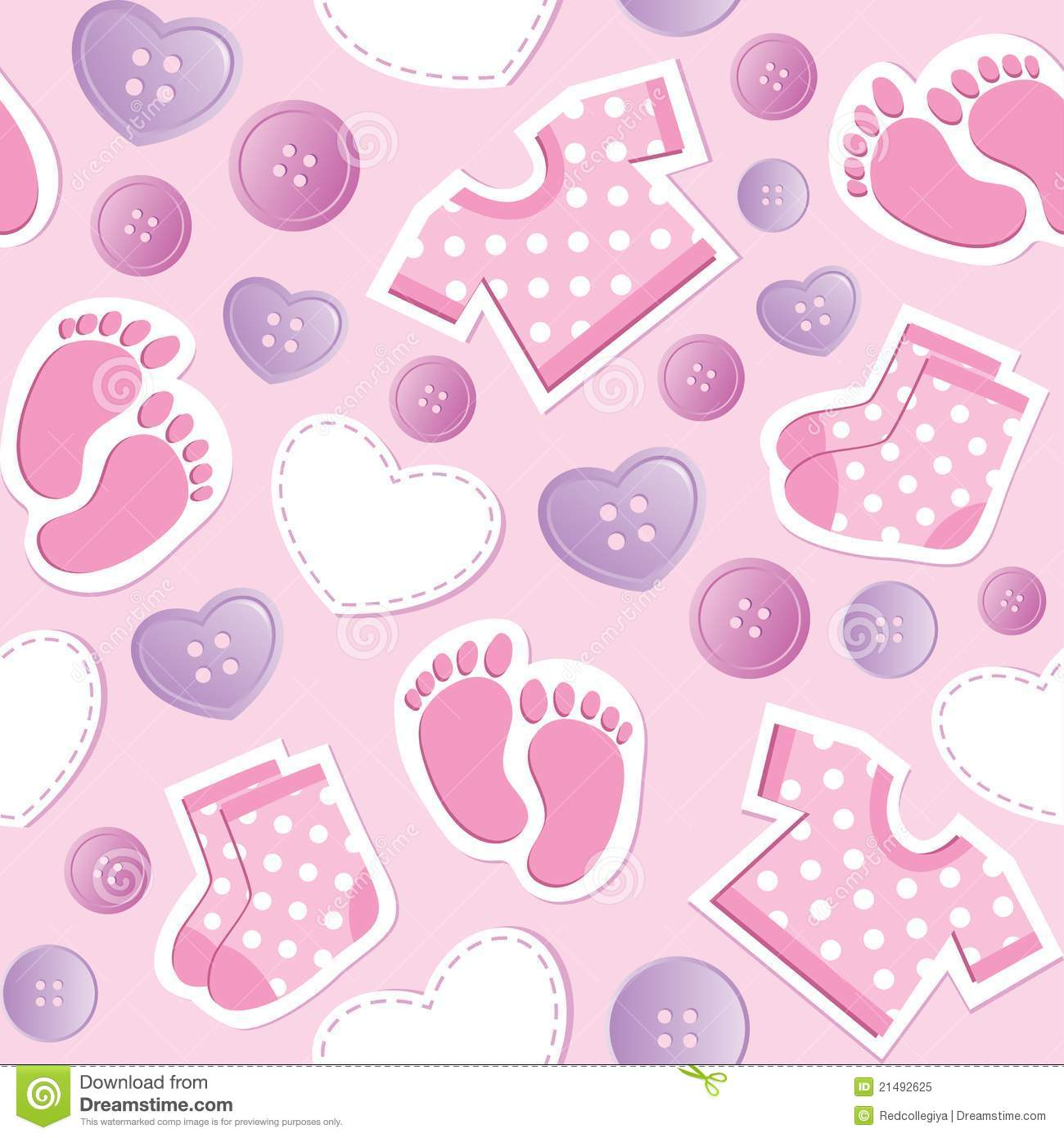Baby Girl Wallpaper Borders Pink And Purple Baby Pink Seamless Pattern Royalty Free Stock Photo