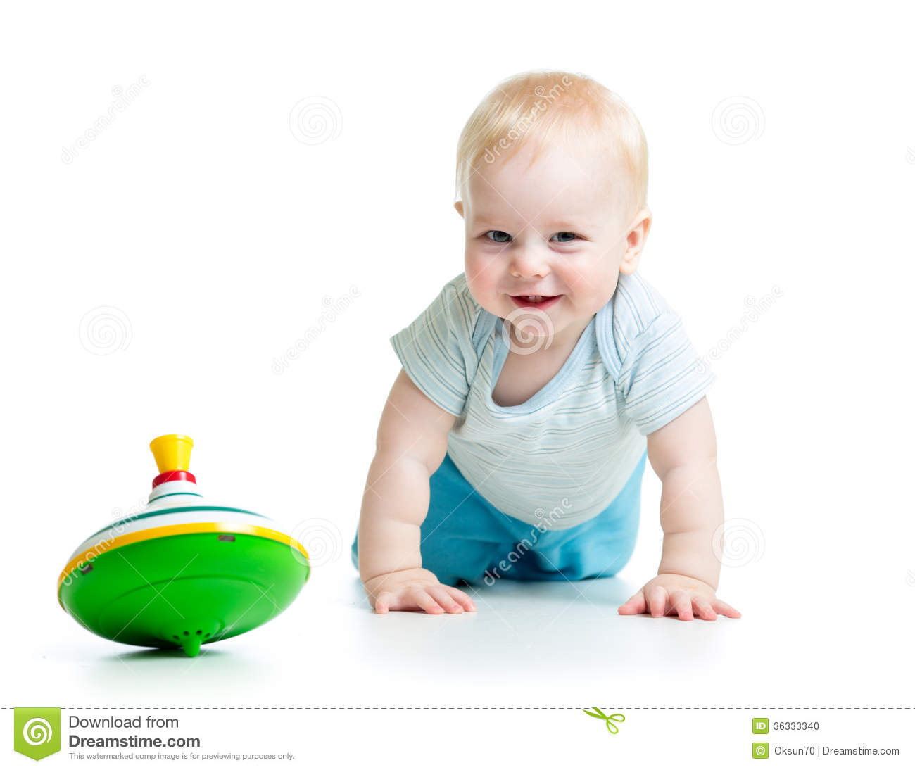 Bebe 7 Meses Y Medio Baby Playing With Toy Whirligig Stock Photo Image Of