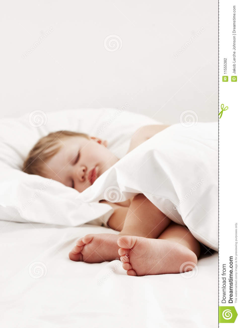 Baby Relax Toddler Bed Baby Sleeping In White Bed Stock Photography Image 11555382