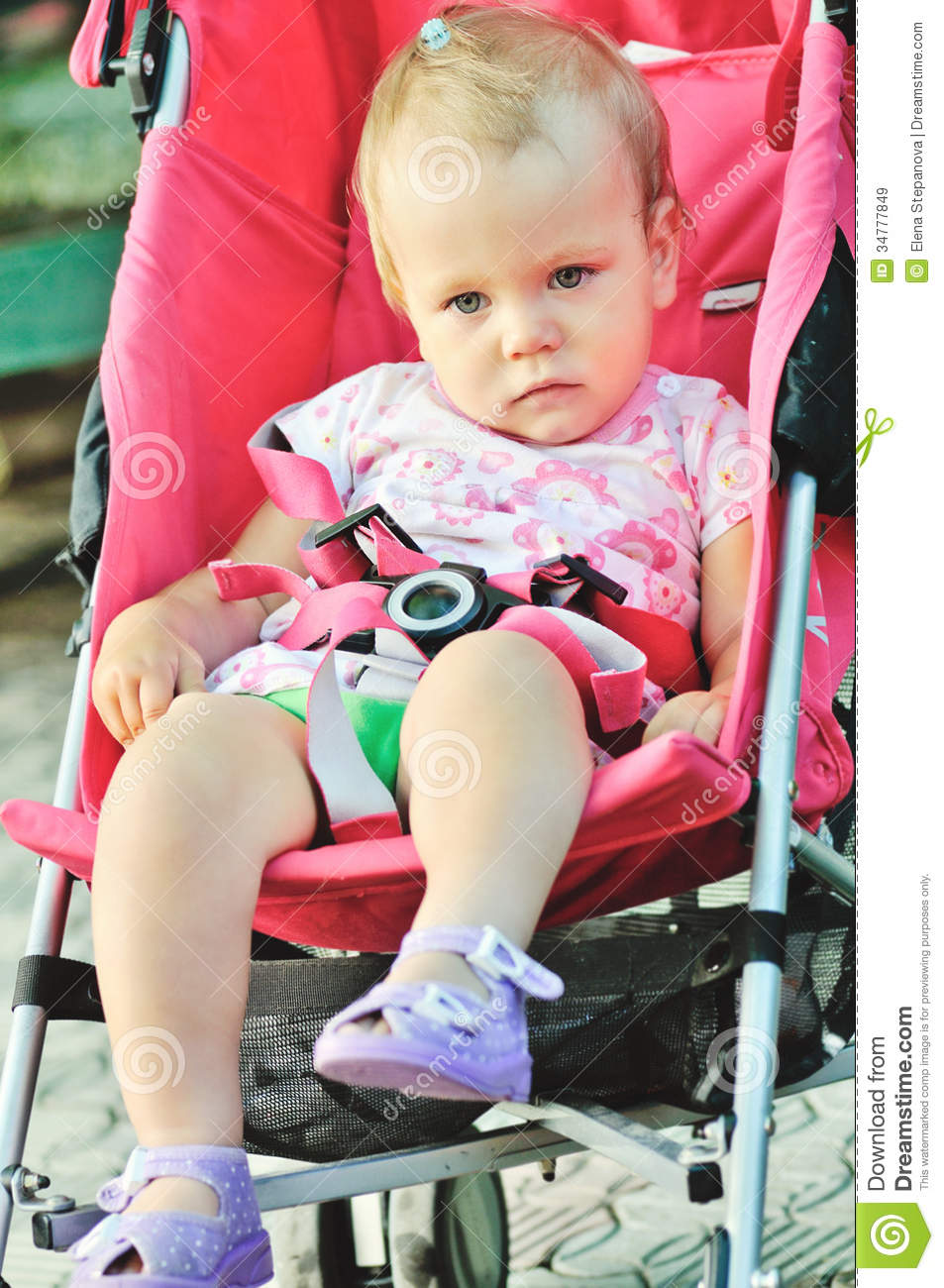 Baby Pram Or Pushchair Baby In Stroller Royalty Free Stock Images Image 34777849
