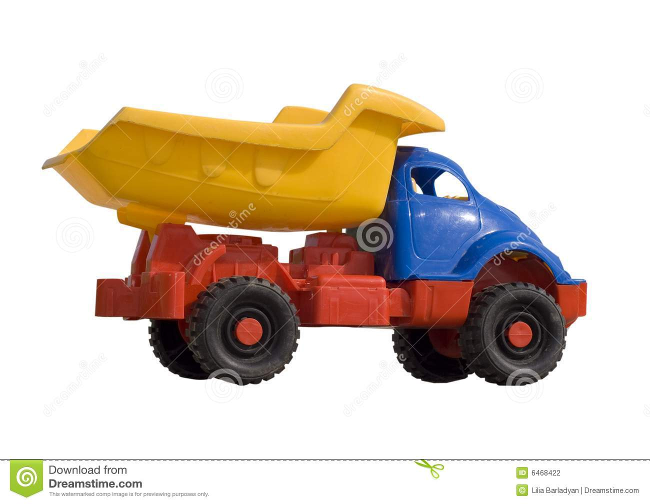 Baby Truck Baby Toy Dump Truck Isolated On White Stock Photography