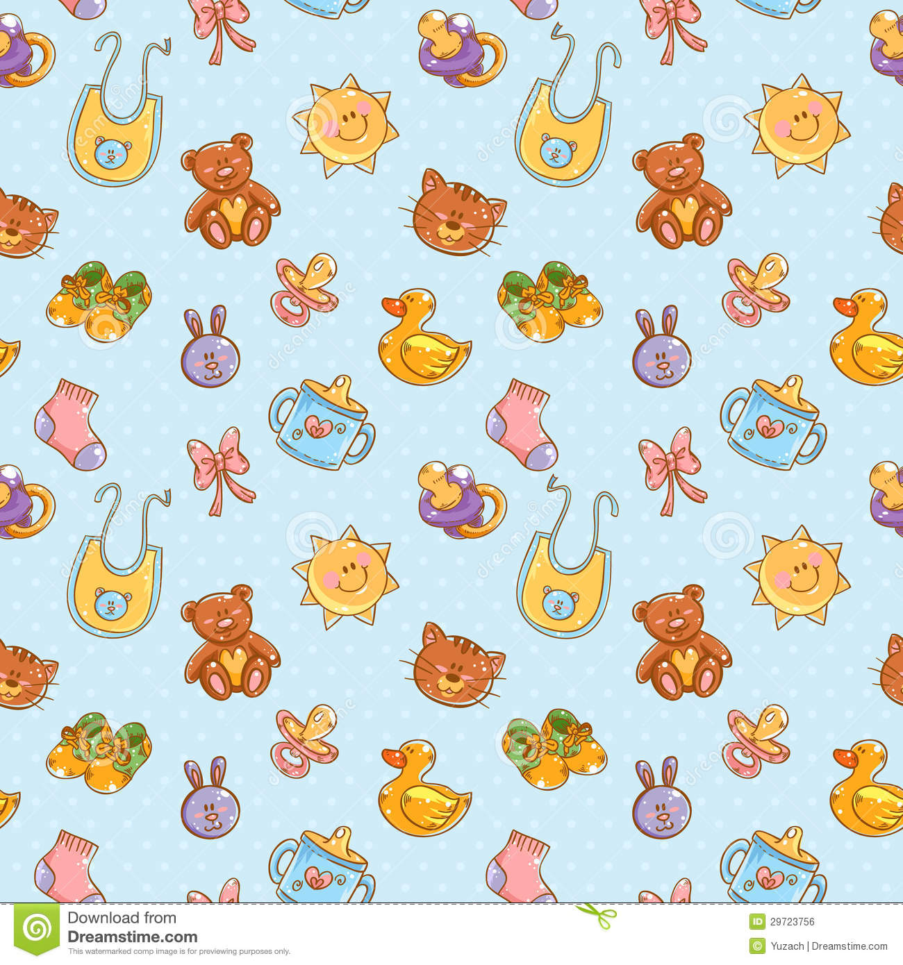 Baby bed sheet pattern - Pink Bed Sheet Texture Baby Toys Cute Cartoon Set Seamless Pattern Royalty Free Download