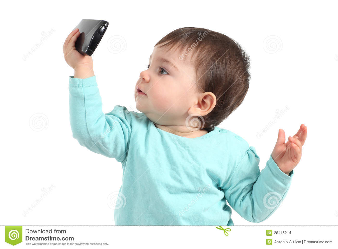 Cute Asian Babies Wallpapers Baby Watching A Mobile Phone Stock Images Image 28415214