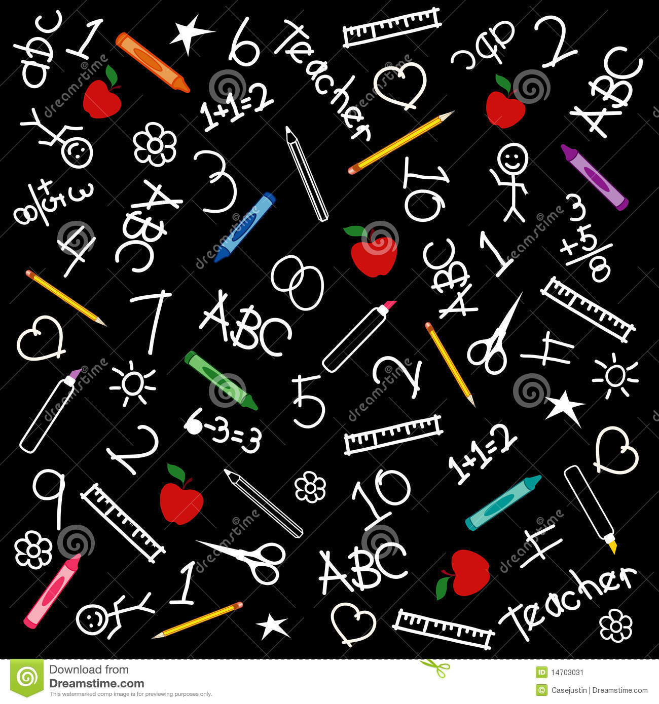 I Letter 3d Wallpapers Back To School Chalkboard Background Stock Image Image