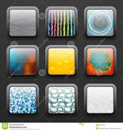 Background For The App Icons Set Stock Photography - Image: 35967282