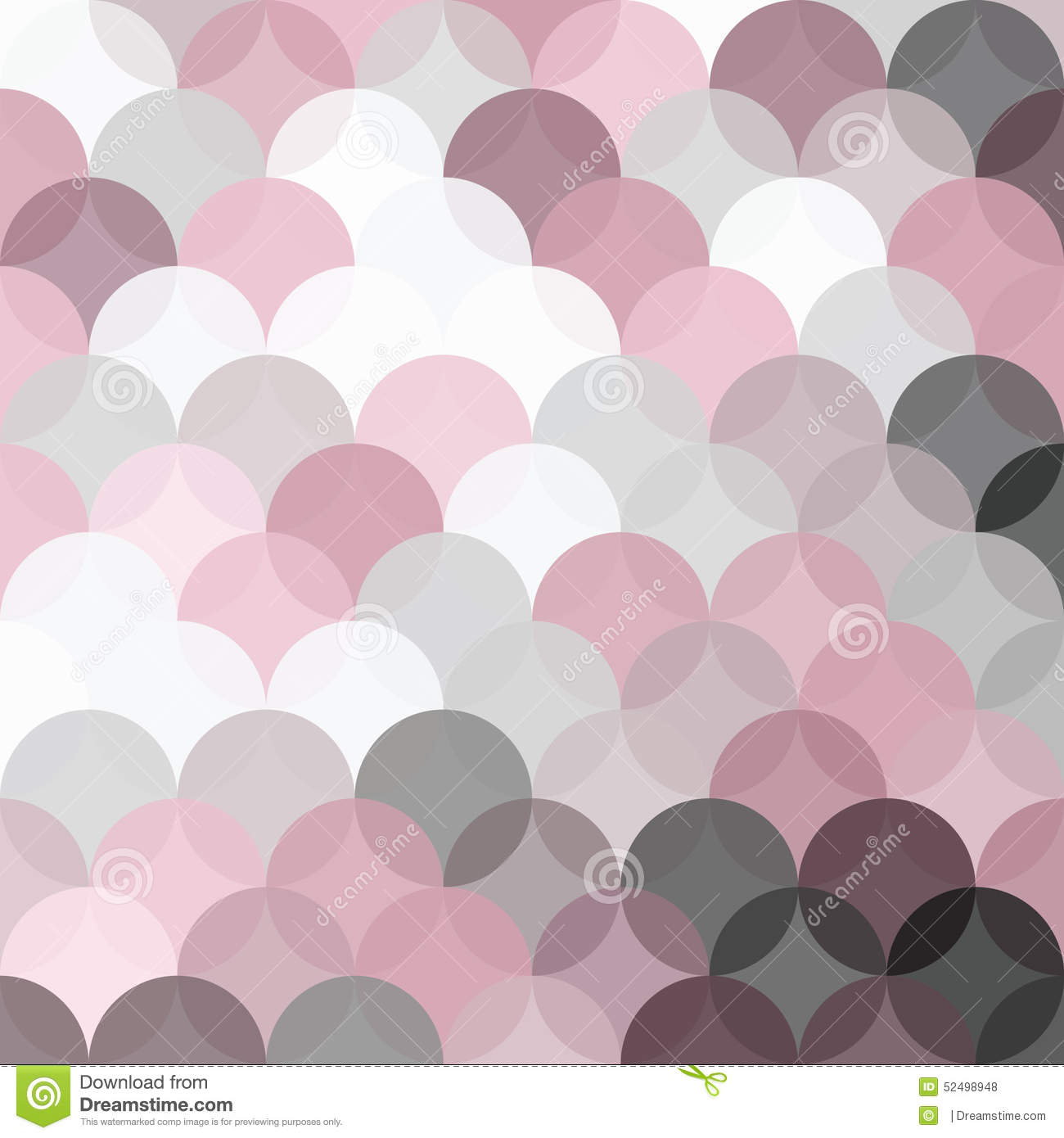 Grey And Pink Background Circles Pattern With Transparent Pink And Grey