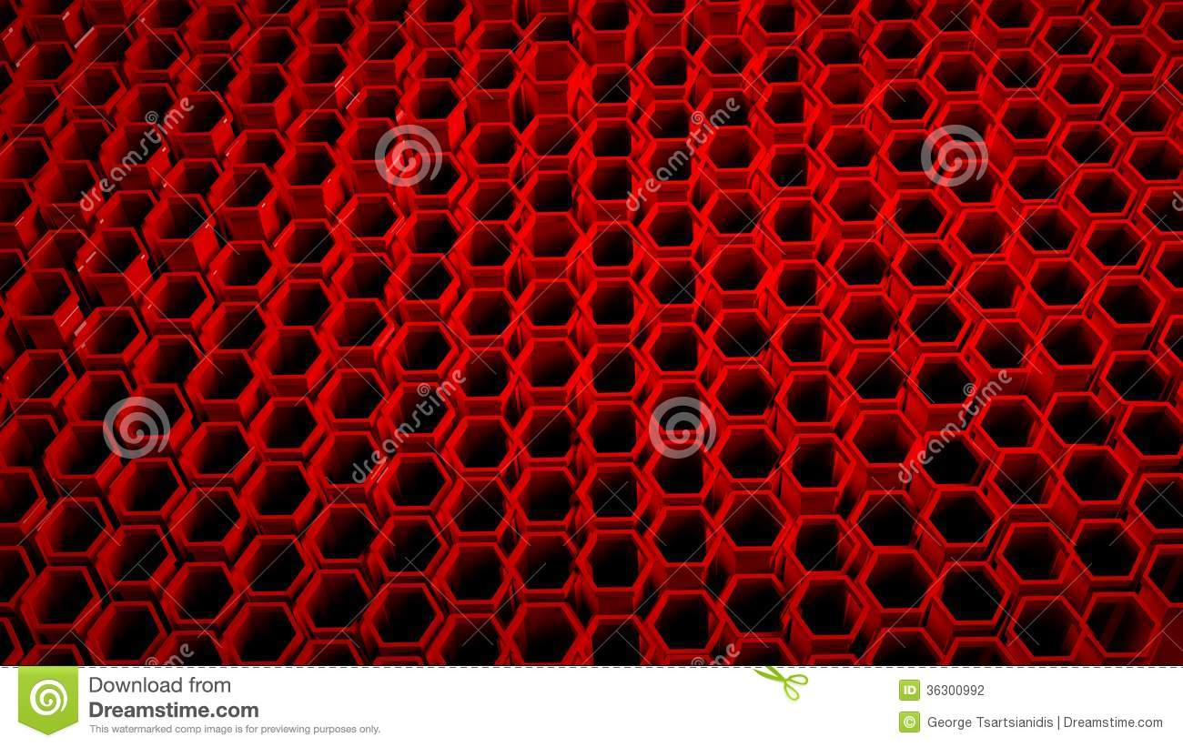 3d Grid Wallpaper Background With 3d Red Stock Illustration Image Of System