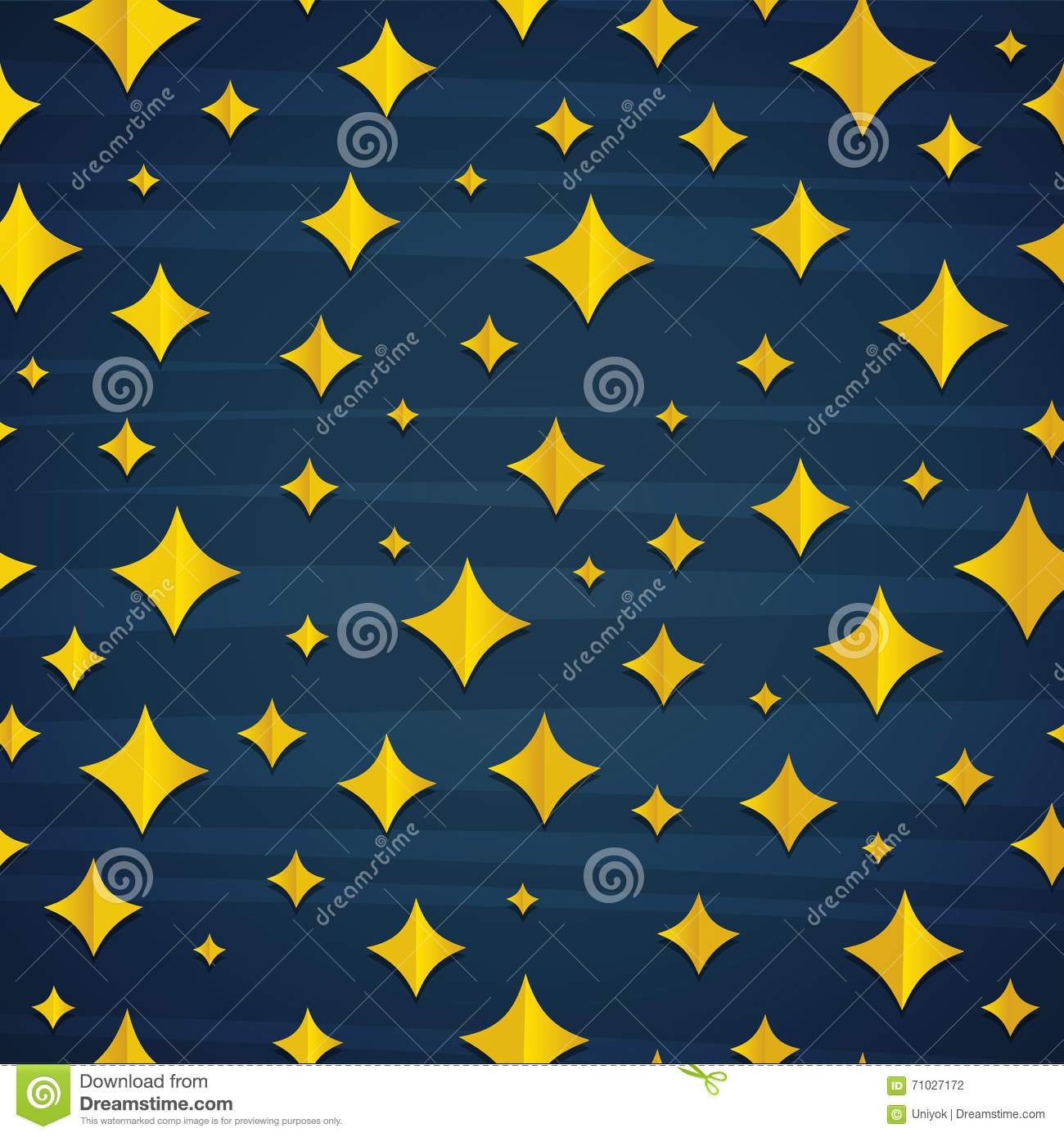 Comic Tapete Seamless Pattern With Cartoon Star In Blue Background