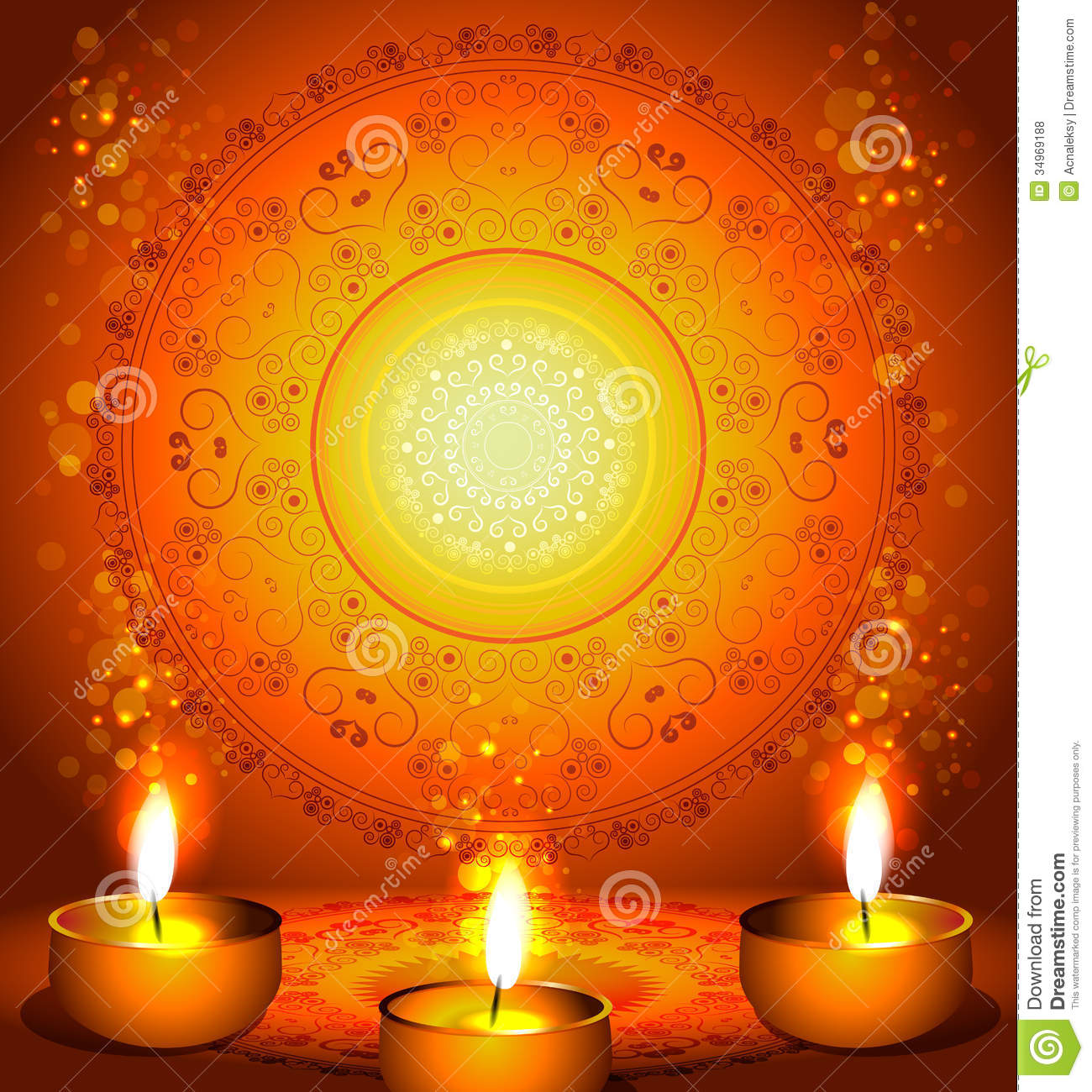 Happy Diwali Hd Wallpaper With Quotes Background For Diwali Festival With Lamps Royalty Free