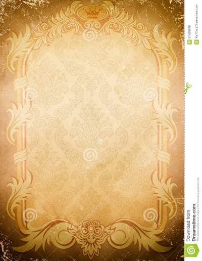 Background Of Old Paper With Old-fashioned Frame. Stock Photo - Image of background, dirty: 57428938