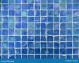 Blue Glass Tile Pattern