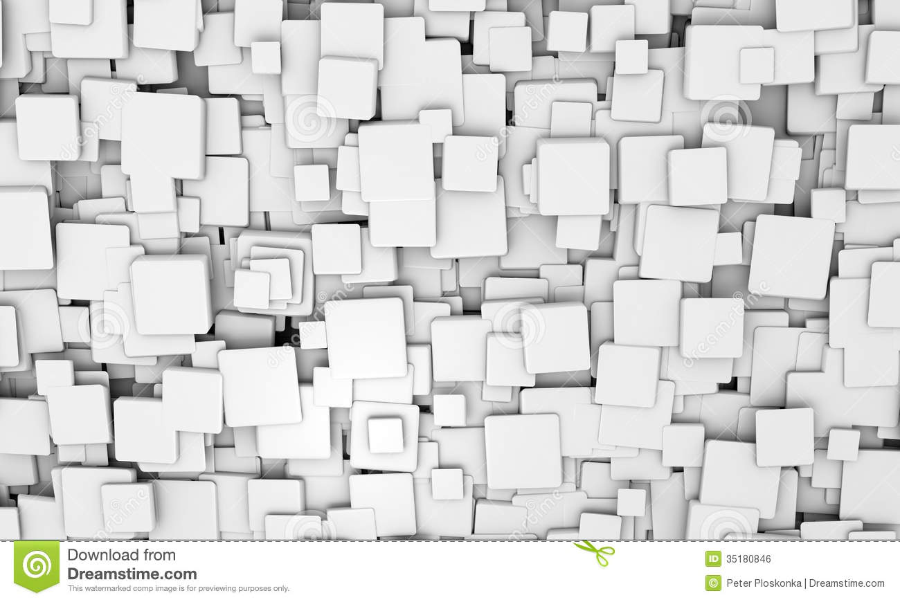 Black 3d Brick Wallpaper Background Pattern Of White 3d Cubes Royalty Free Stock