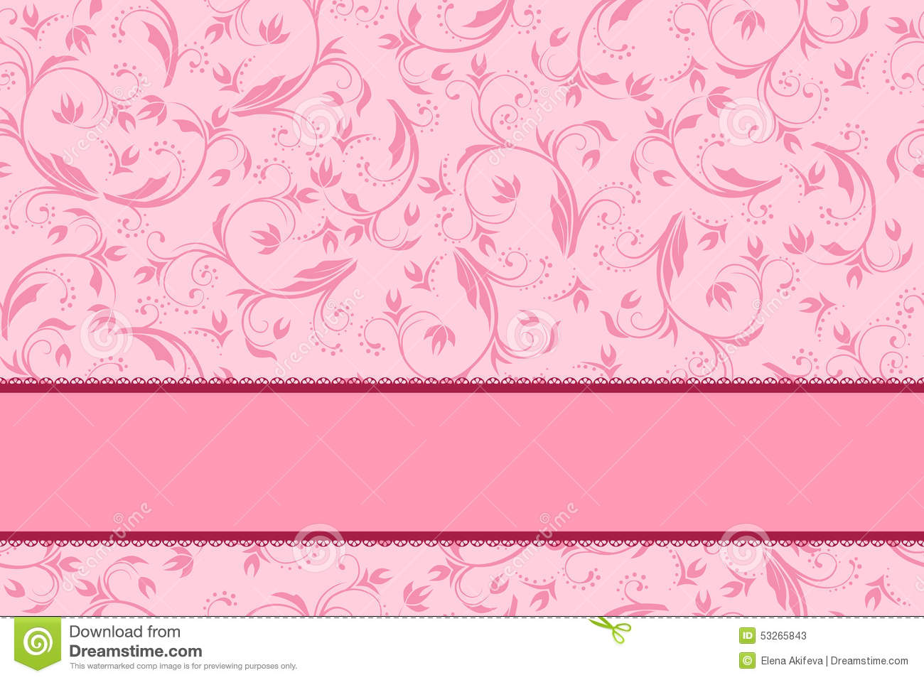 Cute Baby Girl Hd Wallpaper Download Background Pink Floral With Bow Pattern Seamless Stock