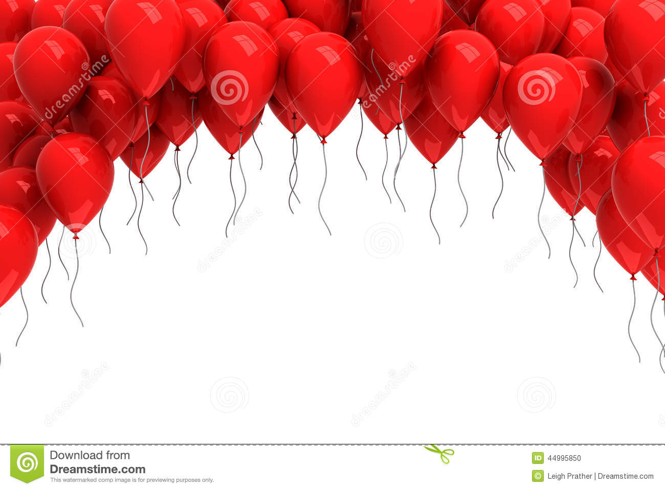 Birthday Cake Wallpaper 3d Download Background Of Red Balloons Stock Illustration Image