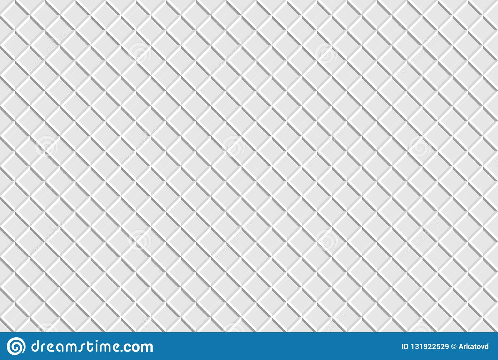 3d Texture Texture Waffle White Color 3d Render Stock Illustration