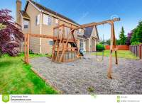 Playground In The Backyard Royalty-Free Stock Image ...