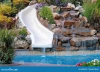 Backyard Pool And Slide Royalty Free Stock Image - Image ...