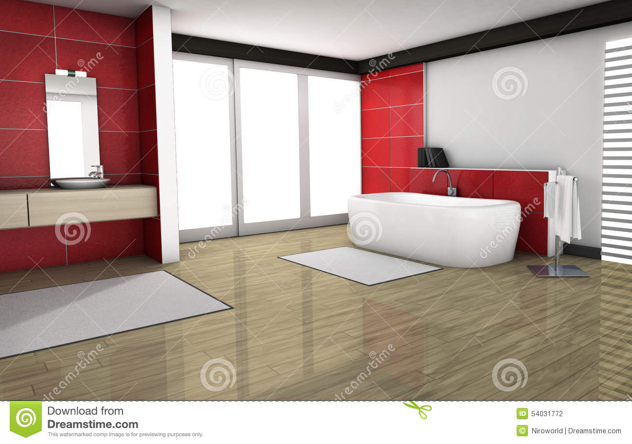 Badezimmer Designer Download Badezimmer Mit Roten Granit Fliesen Stock Abbildung Illustration