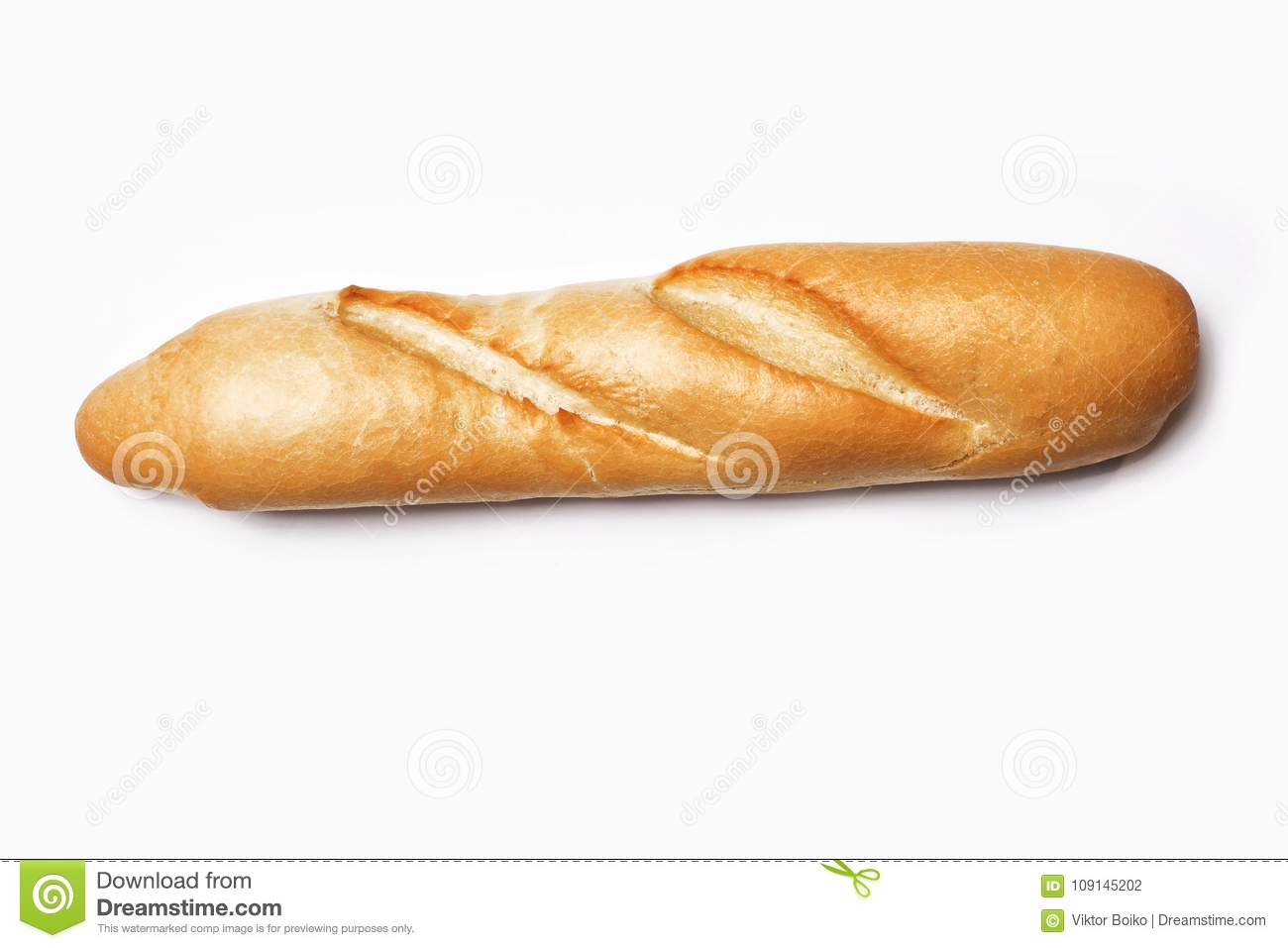 Baguette De Décoration Baguette Isolated On White Stock Photo Image Of Home 109145202