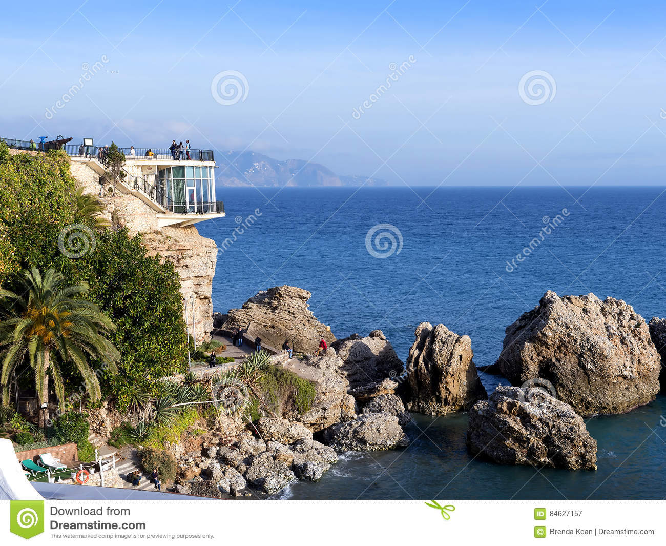 Sol Balcon The Balcon De Europa In Nerja A Sleepy Spanish Holiday Resort On