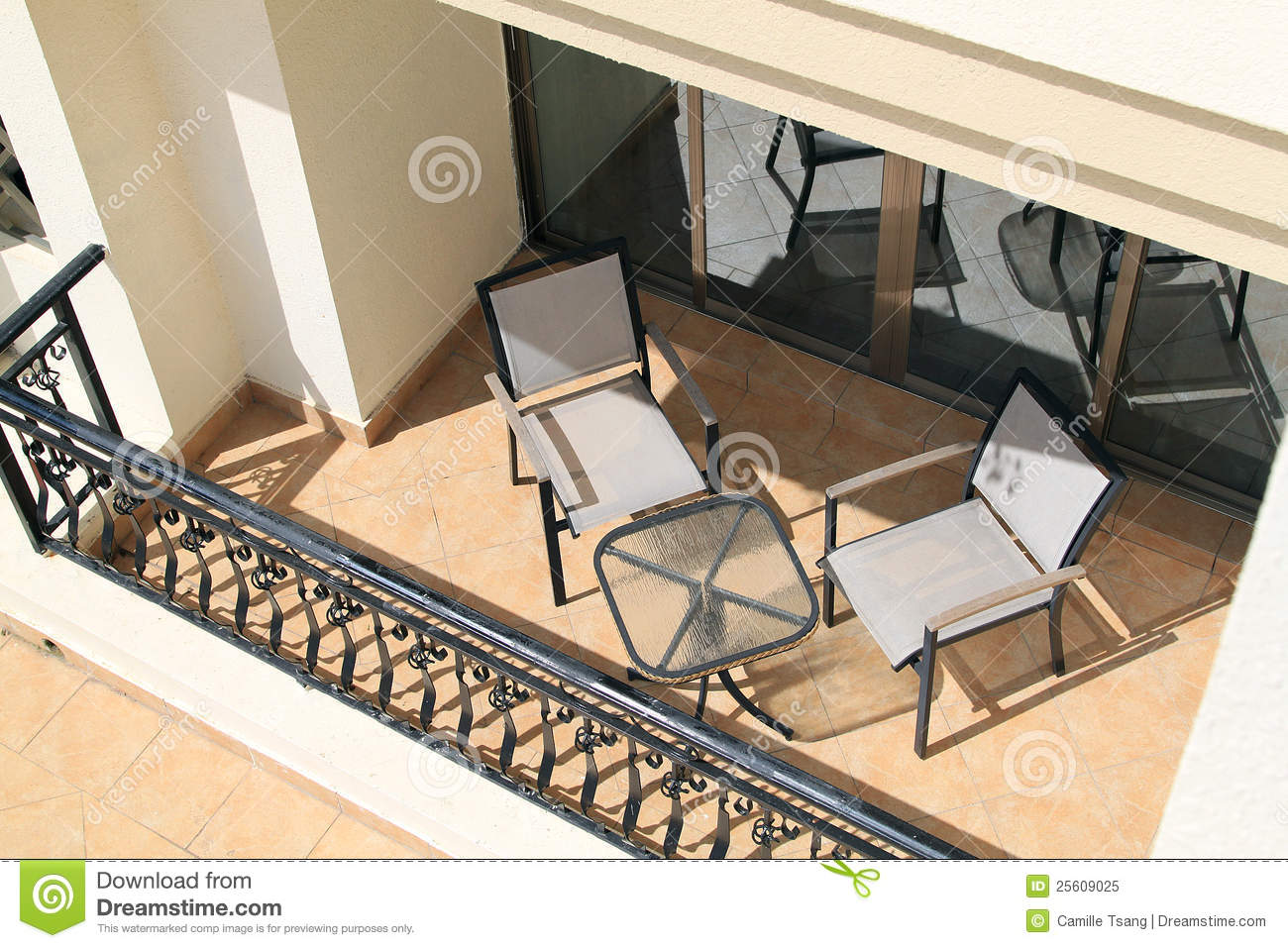 Muebles Para Balcon Balcony With Furniture Royalty Free Stock Photo - Image