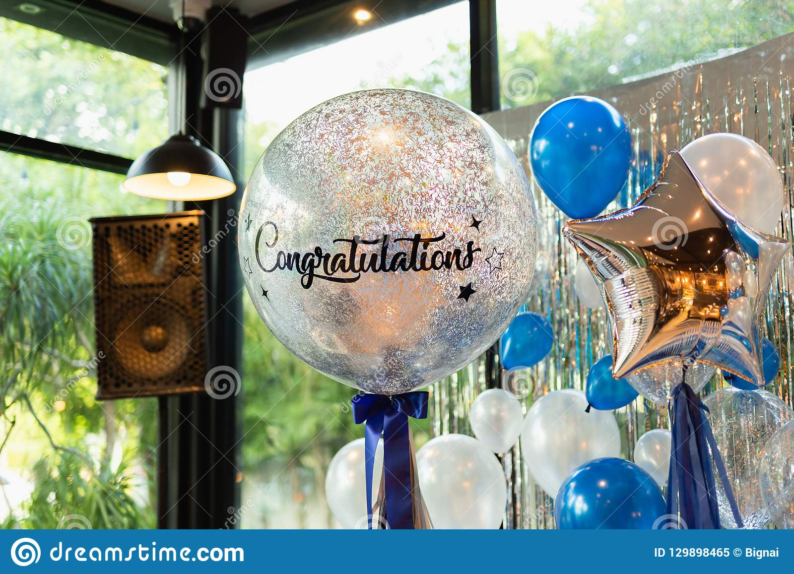 Decoration De Ballon Balloons With Word Congratulation On Ballon Decoration In The