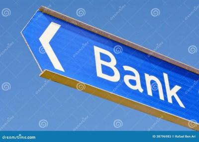 Bank Street Sign Post Stock Photo - Image: 38796983