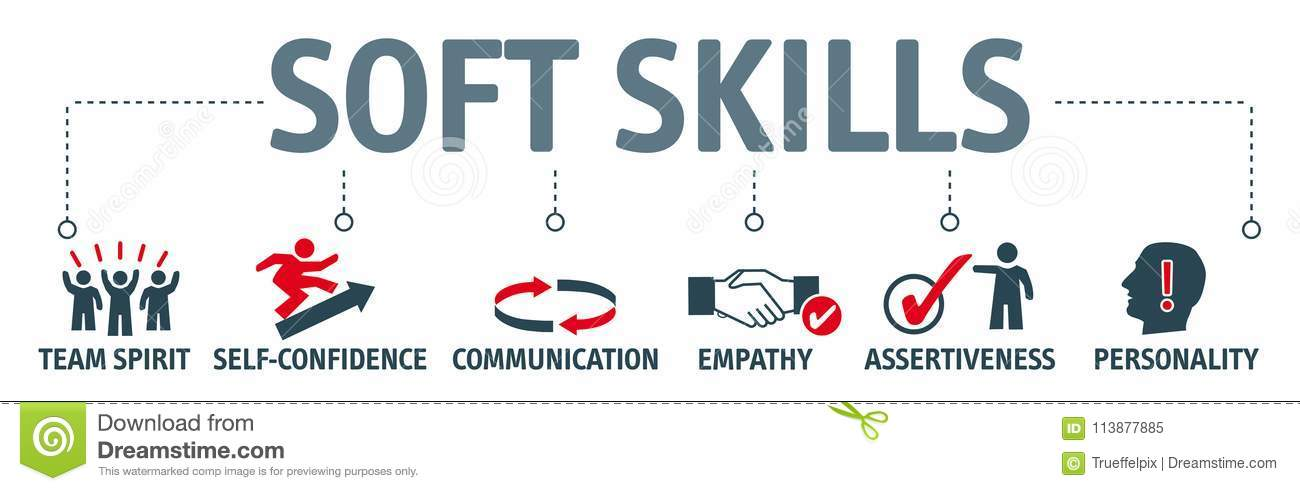 Banner Soft Skills Concept Illustration Stock Illustration - what are soft skills