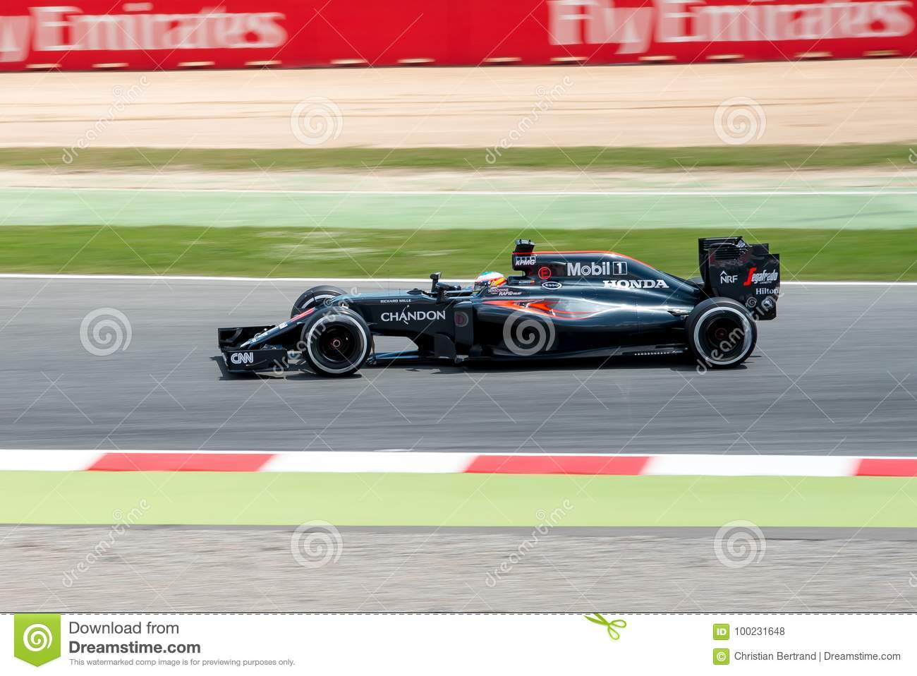 Fernando Alonso F1 Grand Prix Fernando Alonso Drives The Mclaren Honda F1 Team Car On Track For