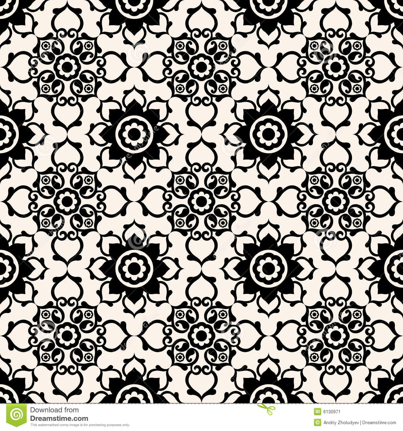 Black And White Victorian Wallpaper Baroque Floral Pattern Stock Image Image 6130971